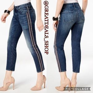 ‼️KUT FROM THE KLOTH‼️STRIPED CATHERINE ANKLE JEAN